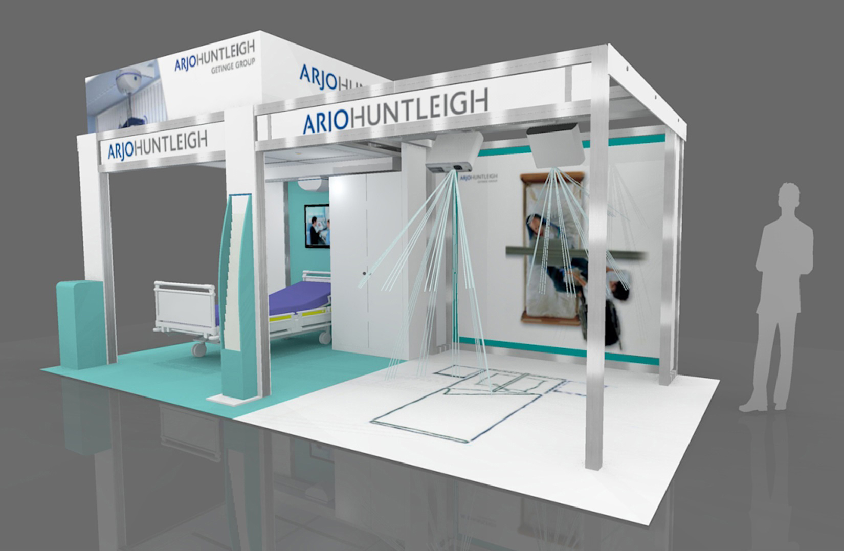 Arjohuntleigh 10x20 Custom Modular Exhibit BERLINdisplays collaborated with Archex