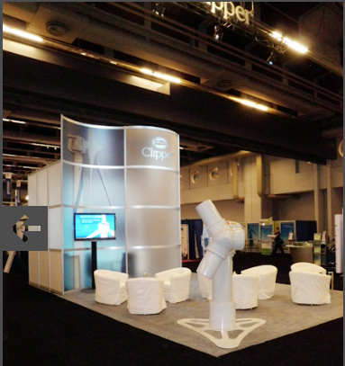 Custom Exhibit System Rental by BERLINdisplays collaborated with Archex for Clipperwind