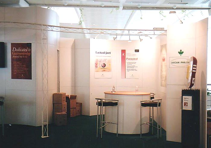 Axcan with custom Europe rental Custom Exhibit view 2