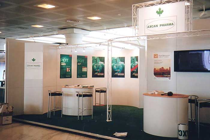 Axcan with custom Europe rental exhibit